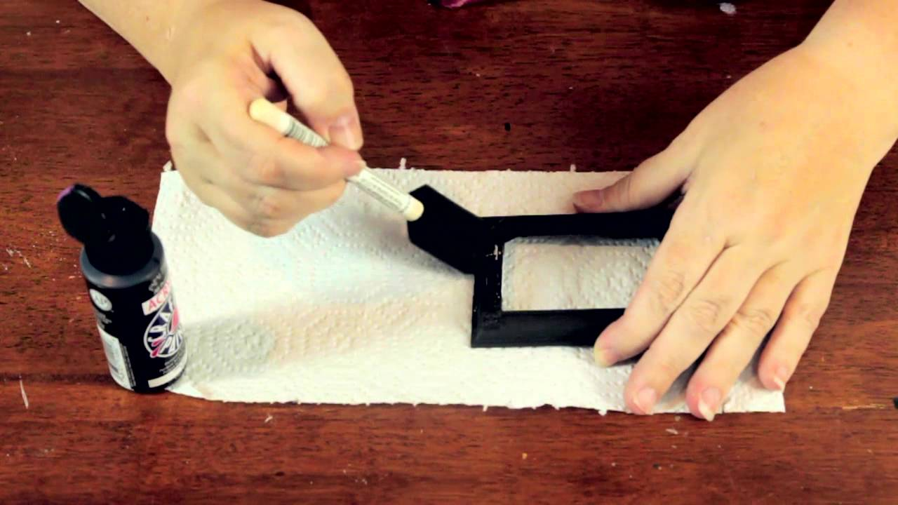 How To Paint Metal Picture Frames Crafty Tips Youtube