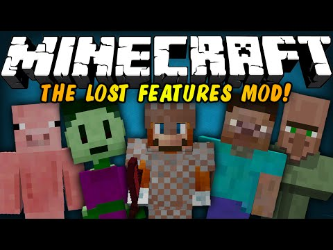 Minecraft Mod Showcase - THE LOST/FORGOTTEN FEATURES MOD! (RUBY TOOLS, 10+ POTIONS, & MORE!)