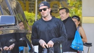 David Beckham Stays Fit After Attending LA Dodgers' Season Opener With Sons