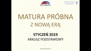 Matura próbna NOWA ERA styczeń 2019 matematyka. Arkusz podstawowy.