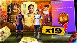 What do you get from 19 Guaranteed 86+ Player Upgrade Packs?