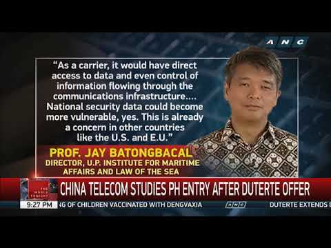 China Telecom studies PH entry after Duterte offer