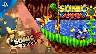 Sonic Mania and Sonic Forces PS4 Gameplay Demo | E3 2017