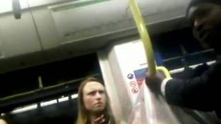 Racist British Woman On UK Tram-THIS IS DISGUSTING-***Must Watch***