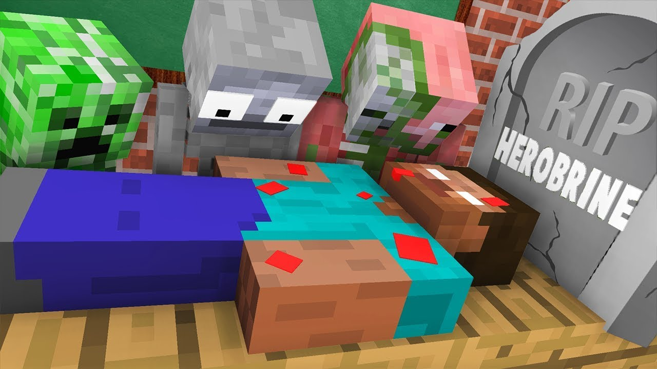 Monster School : RIP Herobrine Challenge - Minecraft Animation