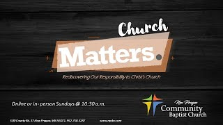 CHURCH MATTERS: Introduction
