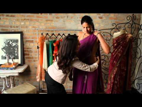 how to wear a sari video