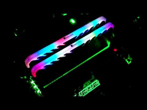Universal Rgb Ram Led Armor Shell Memory Glowing Heatsink For Computer Cooling Vest Fin Heat Sink Controller For Ddr3 Ddr4 Active Components
