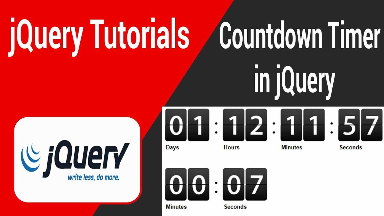 Countdown Timer in jQuery In Tamil