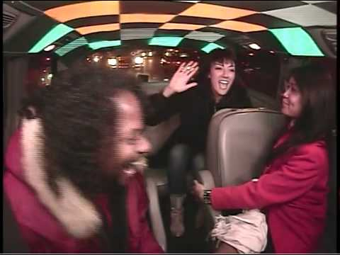 Norman & unsuspecting cohorts go for a ride in the CASH CAB!