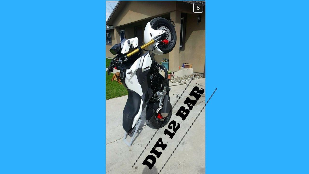 """Honda Grom Build >> 2017 Honda Grom""""'DIY""""12 bar/wheelie bar build - YouTube"""
