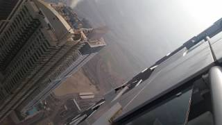 Dubai riskiest job: Window Cleaning on the 90's floor on princess Tower Dubai Marina