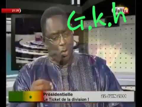 Les paroles de Macky Sall en 2011 le temps de wade