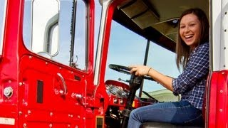 bemg s katie scaff drives a fire truck   commercial driver school in lakewood