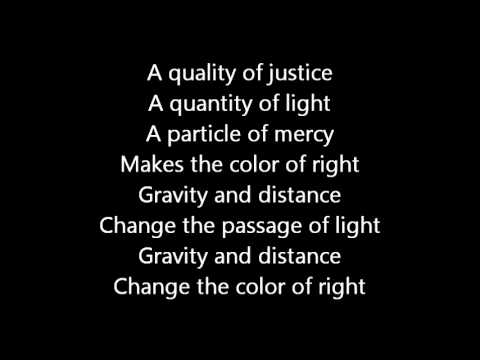 Rush-The Color Of Right (Lyrics)
