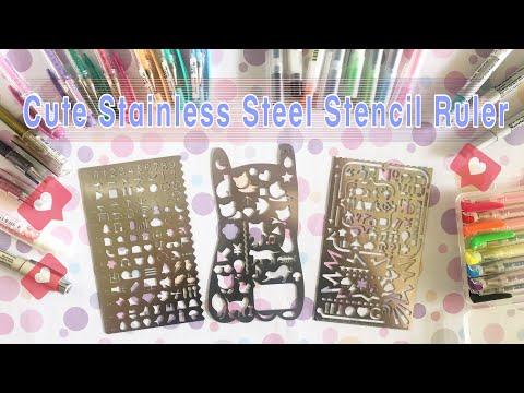 Review Stainless Steel Stencil Ruler : ไม้บรรทัด 📏 น่ารักๆสำหรับใช้ตกแต่ง planner/ bullet journal