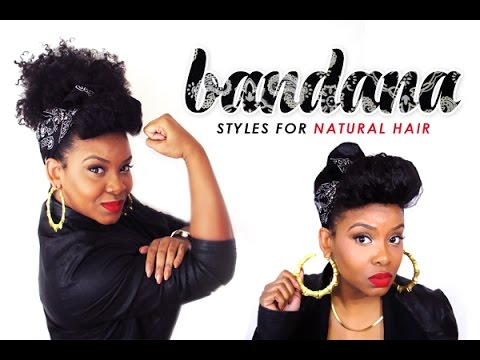 Natural Hair An Updo Styled With A Bandana Youtube