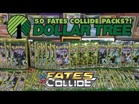 Pokémon Cards - Opening 50 Fates Collide Dollar Tree Packs! | 2 Year YouTube Anniversary Celebration