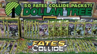 OPENING 50 FATES COLLIDE DOLLAR TREE PACKS OF POKEMON CARDS | 2 Year YouTube Anniversary Celebration