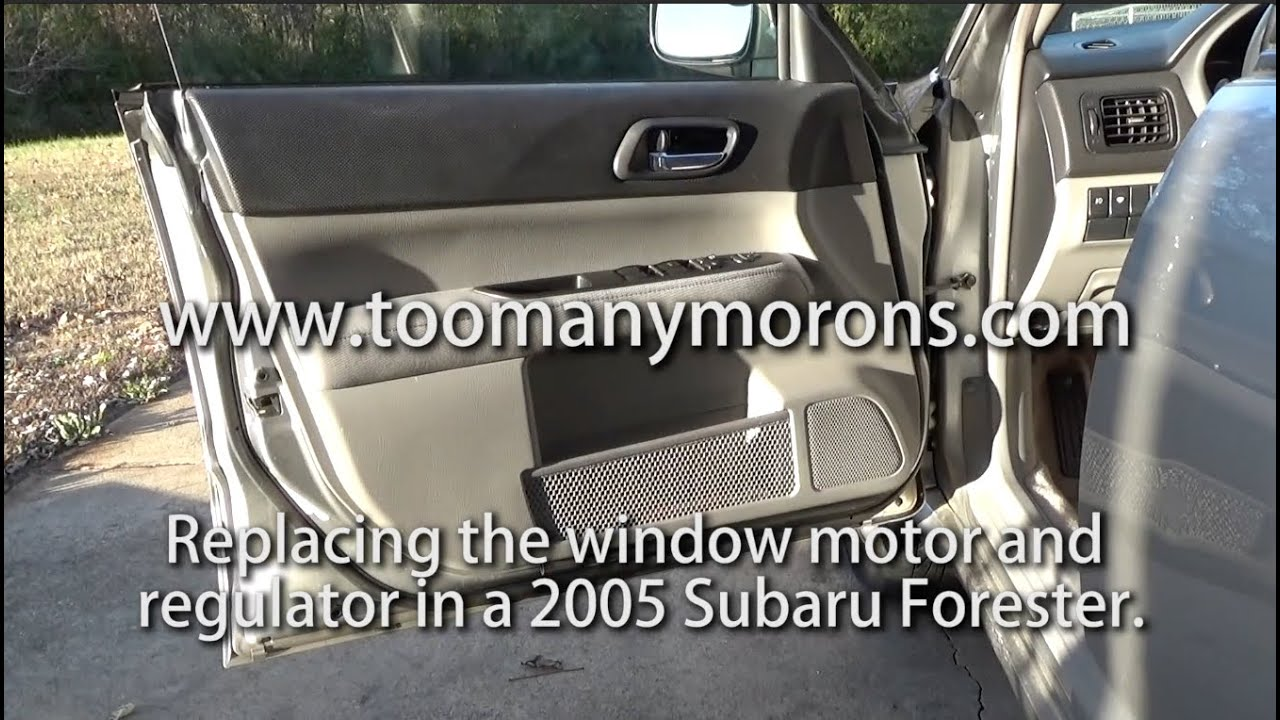 2005 Subaru Forester Window Motor And Regulator Repair Youtube 2002 Outback Heated Seats Wiring