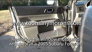2005 Субару Форестер вікно мотор і регулятор ремонт