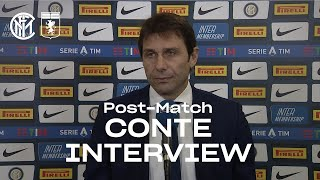 "INTER 3-0 GENOA | ANTONIO CONTE EXCLUSIVE INTERVIEW: ""We're growing everyday"" [SUB ENG]"