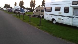 Walking around the Touring Caravan area of Richmond Holiday Centre, Skegness