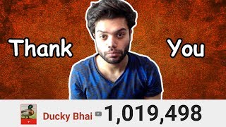 1 MILLION SUBSCRIBERS (GONE EMOTIONAL) !!!
