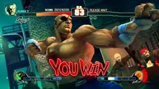 Street Fighter IV (PlayStation 3) Arcade Mode as Sagat