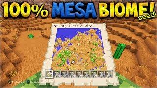 100% MESA BIOME SEED! Minecraft Console Edition - TU54 ONLY Mesa Biome Seed (ALL CONSOLES)