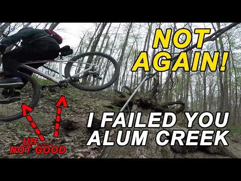 Alum Creek P2 intermidiate mountain bike trail vlog