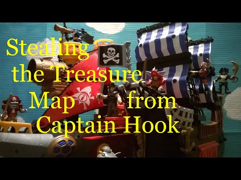 Fisher-Price Imaginext Pirates: Stealing The Treasure Map From Captain Hook
