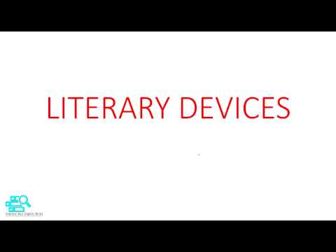 LITERARY DEVICES EXPLANATION | English Department First year