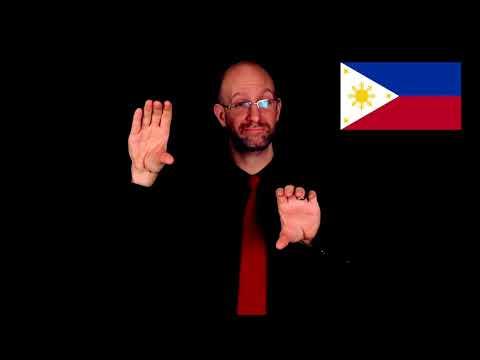Philippines Flag Description | ASL - American Sign Language