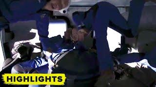 Watch Jeff Bezos and Wally Funk in zero gravity during Blue Origin spaceflight