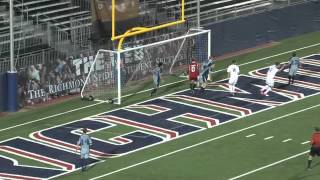 Oldham's Goals Lead Richmond Men's Soccer Over Longwood