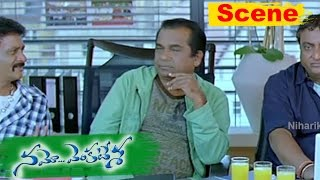 Venkatesh Hilarious Comedy with Brahmanandam Namo Venkatesa Movie Scenes