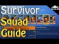 Download FORTNITE - Survivor Squad Guide (Best Mission To Farm Hero, Schematic And Survivor XP)