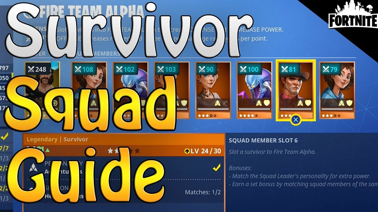 A guide to budget/free progression: managing survivors/weapons.