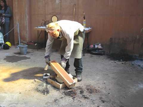 Neil Burridge Casting a Bronze Sword at Geevor Tin Mine Cornwall part1