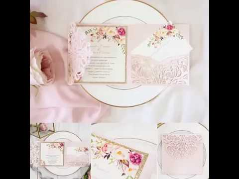 Blush Danielle Lasercut invitation