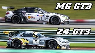Sound comparison - BMW F13 M6 GT3 vs E89 Z4 GT3