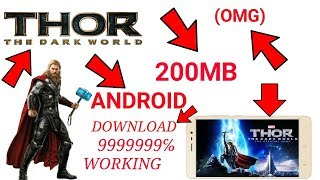(200MB) DOWNLOAD THOR THE DARK WORLD GAME MOD APK+DATA ON ANDROID DEVICE | GAMEPLAY PROOF