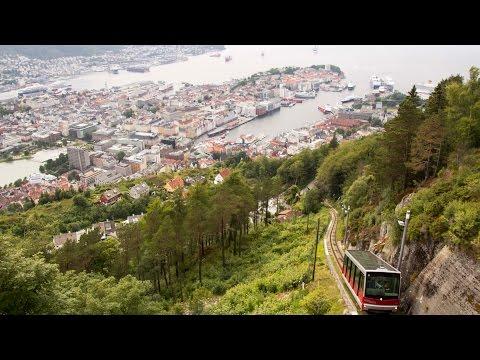 Mount Floyen and Floibanen Cable Car, Bergen, Norway