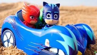 Герои в масках и Молния МАКВИН. #Ромео похитил Молнию Маккуина! Видео с игрушками