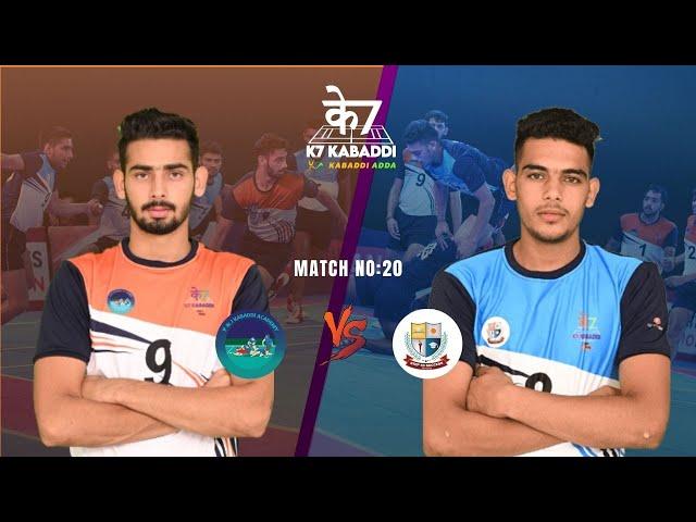 Parveen and Jasvir Academy vs Bhaini School   Full Match 20   K7 Kabaddi Stage Up   Himanshu   Mohit