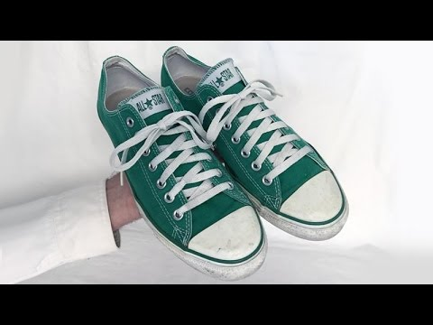 4560c9057bf2df Old used Converse All Star Chuck Taylor shoes nice green mens size 10 made  in China