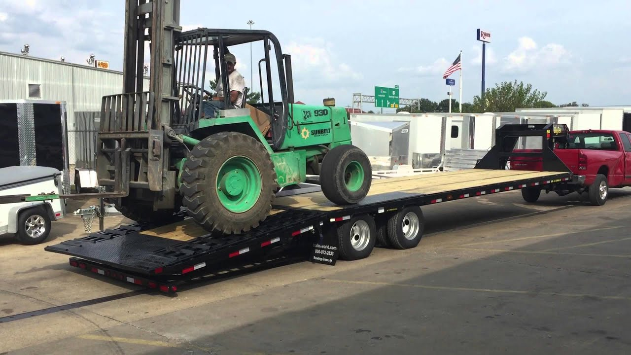 Hydraulic Lifting Trailers : Big tex trailer hydraulic dovetail lifting fork lift at