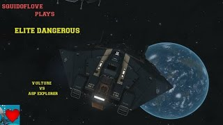 Elite Dangerous Gameplay - Vulture vs Asp Explorer