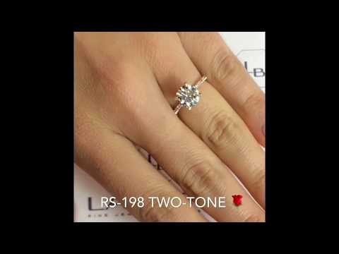 8mm Round Moissanite Engagement Ring
